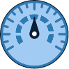 drawing of a blue meter